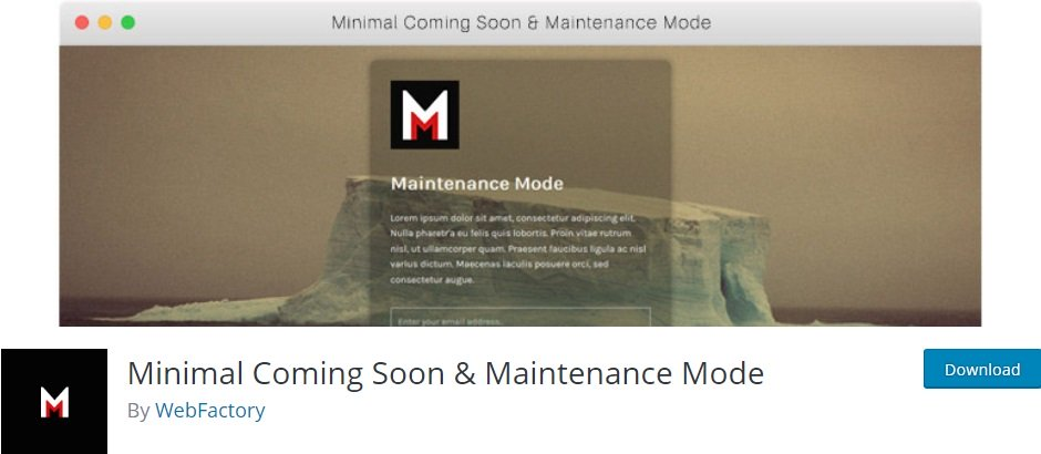 Плагин Minimal Coming Soon & Maintenance Mode