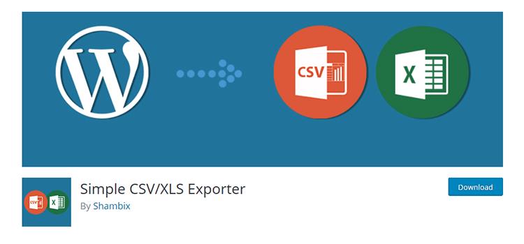 плагин Вордпресс Simple CSV/XLS Exporter