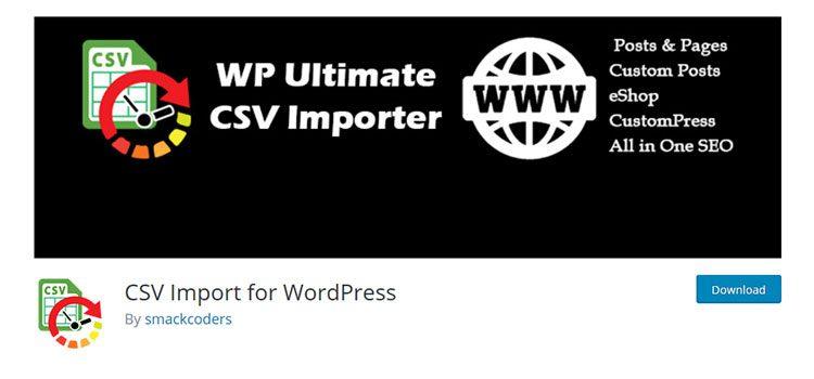 плагин Вордпресс WP Ultimate CSV Importer
