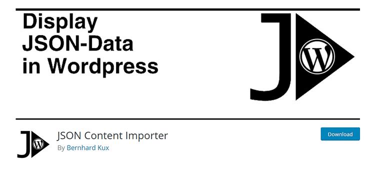 плагин Вордпресс JSON Content Importer