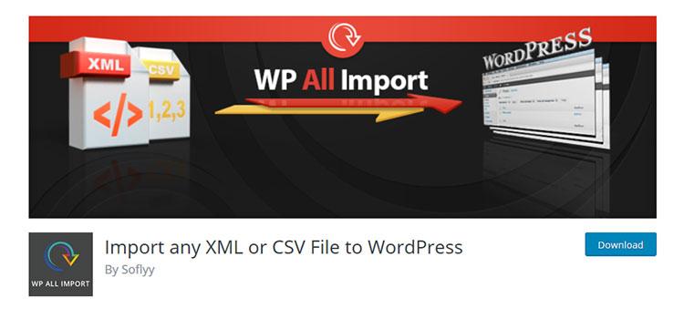 плагин Вордпресс WP All Import