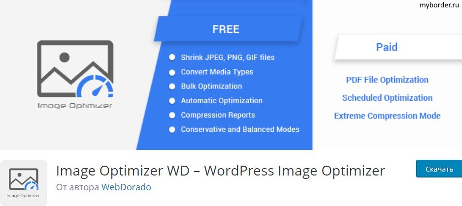 Плагин Image Optimizer WD для Вордпресс
